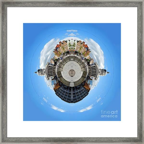 Little Planet - Nottingham Town Hall Framed Print