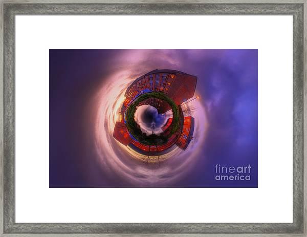 Little Planet - Suburban Sunset Framed Print