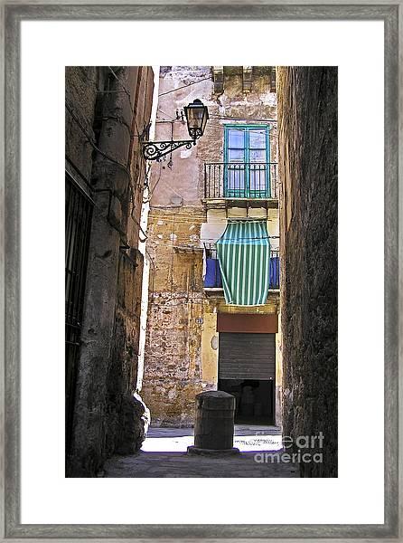 Little Street Of Palermo Framed Print