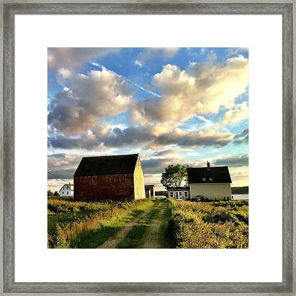 Little Tancook Island Farmhouse Framed Print