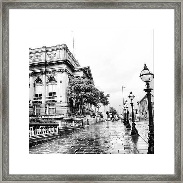 #liverpool #uk #england #rainy #rain Framed Print