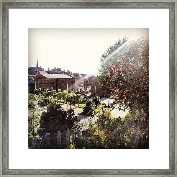 #liverpool #uk #england #tree #house Framed Print