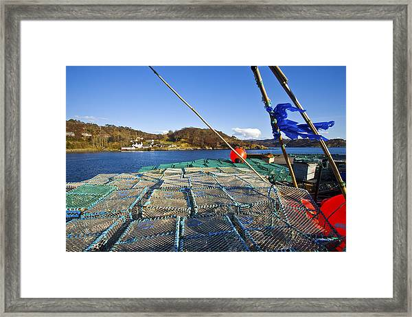Lobsters Cages On The Loch Gairloch Framed Print