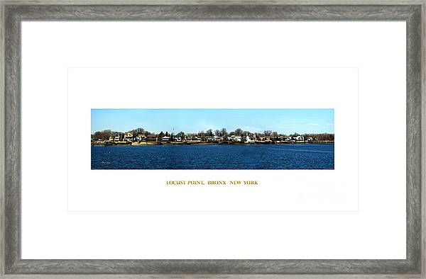 Locust Point Bronx New York Framed Print