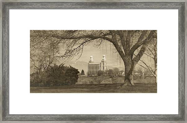 Logan Lds Temple Framed Print