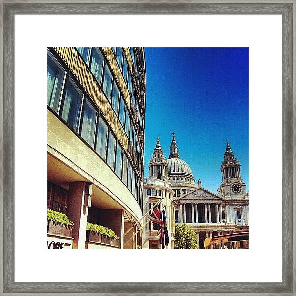 London - #greatbritain #london #uk Framed Print