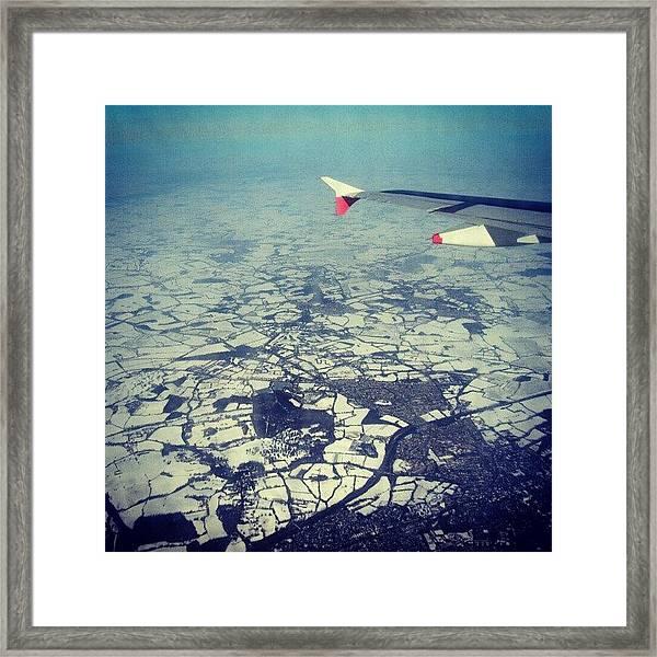#london Covered With #snow Photo From Framed Print