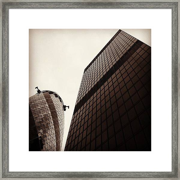 #london #gherkin#building #architecture Framed Print