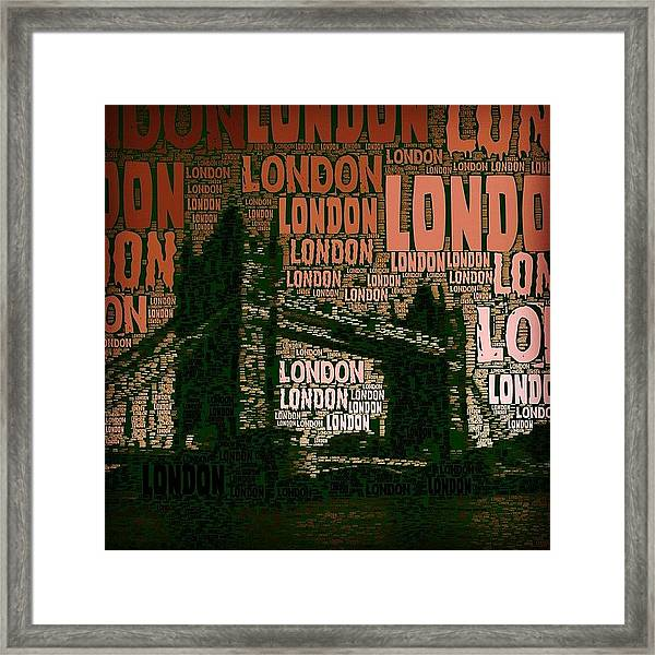 #london Just London Framed Print