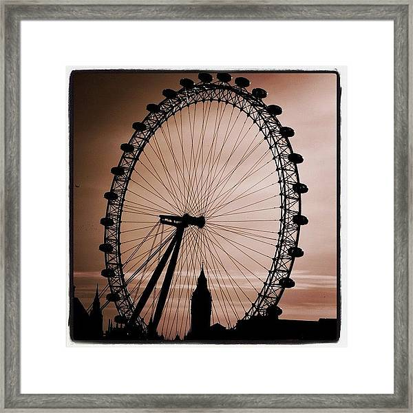 #london #londoneye #bigben Framed Print