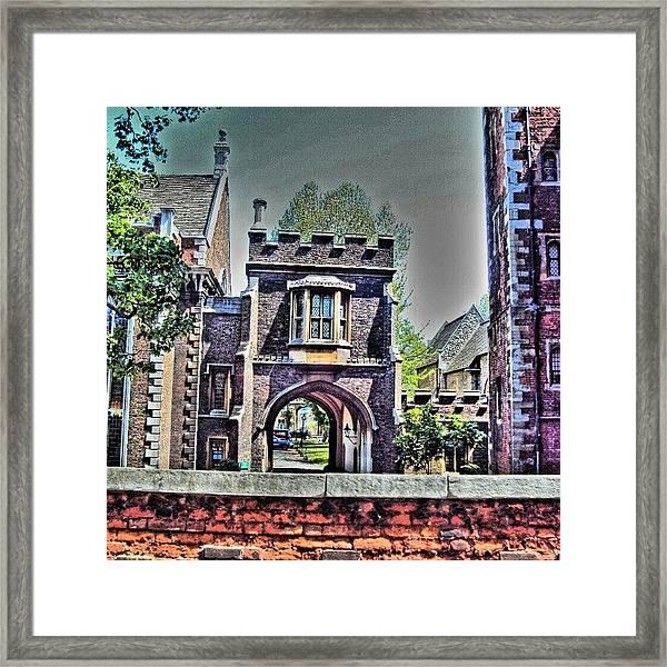 #london #manchester #uk #stone Framed Print