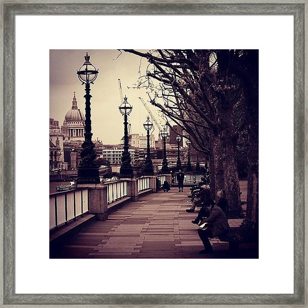#london #southbank #stpaul Framed Print