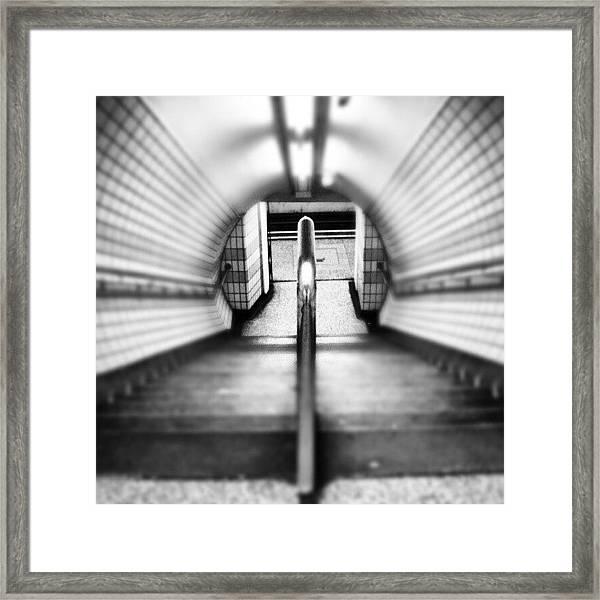 #london #uk May 2012| #underground Framed Print