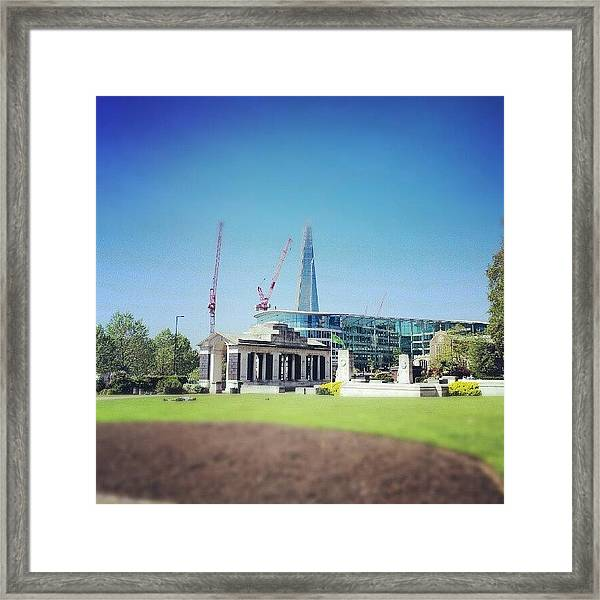 #london #uk #westminster #building Framed Print
