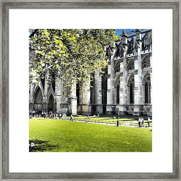 #london2012 #london #church #stone Framed Print