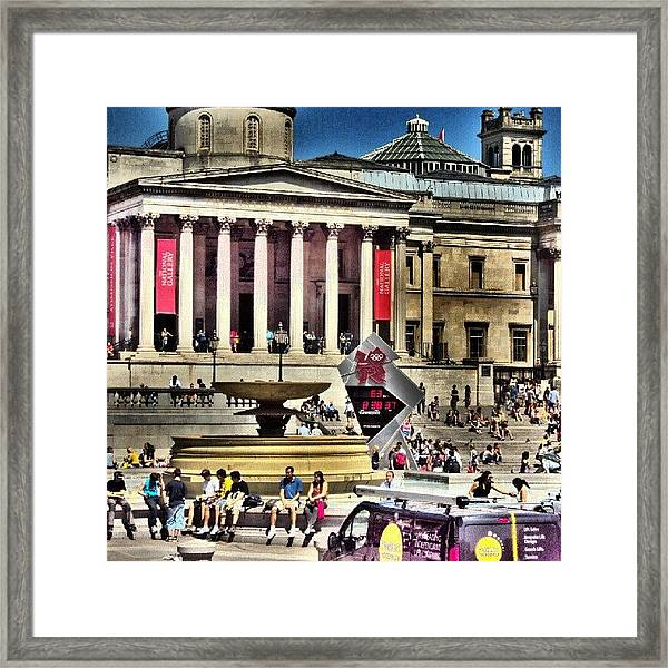 #london2012 #london #uk #summer2012 Framed Print