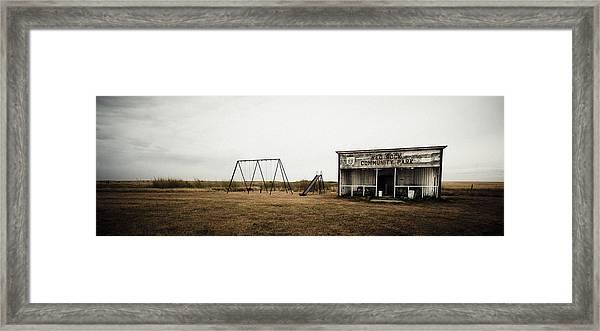 Lonesome Playground Framed Print