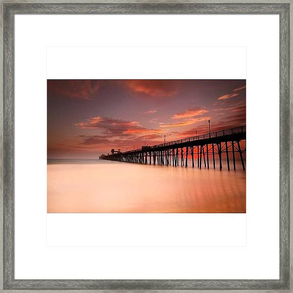 Long Exposure (180 Seconds) At The Framed Print