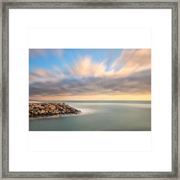 Long Exposure Shot From The North Ponto Framed Print