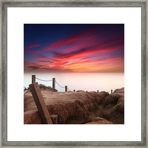 Long Exposure Sunset Taken From The Framed Print