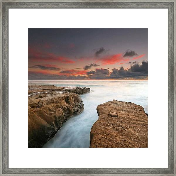 Long Exposure Sunset Taken Just After Framed Print