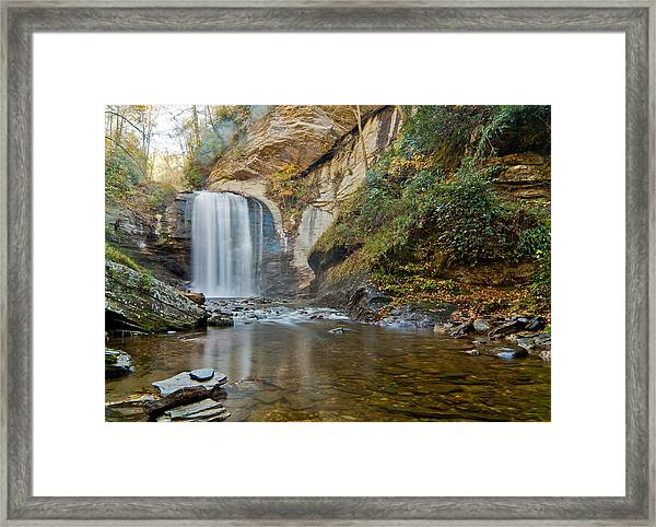 Framed Print featuring the photograph Looking Glass Falls by Francis Trudeau