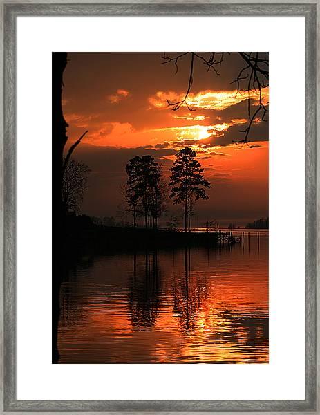 Lousiana Sunset Framed Print