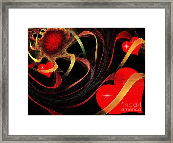 Love Is A Gift From The Heart Framed Print