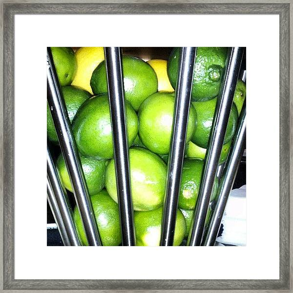 Love Me Some Lime Framed Print