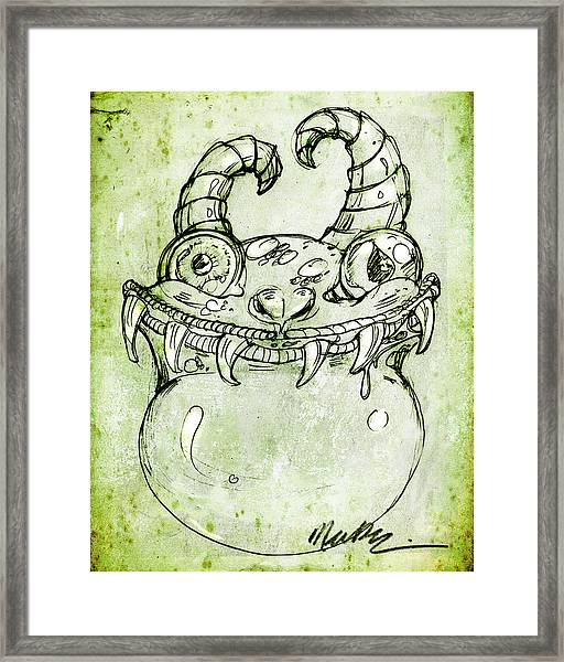 Love Monster Framed Print