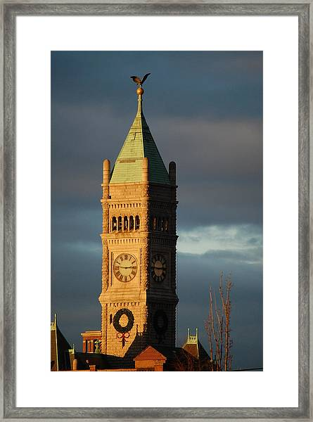 Lowell Clock Tower Framed Print