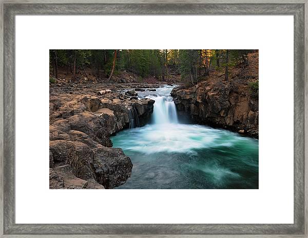 Lower Falls At Sunset Framed Print