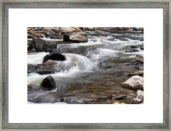 Loyalsock Creek Gentle Rapids Framed Print