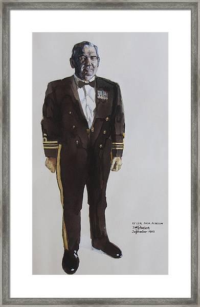 Lt Cdr Dick Benson Framed Print