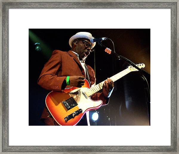 Lynval Golding-the Specials Framed Print by Jeff Ross