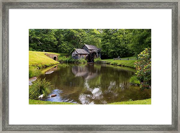 Mabry Mill And Pond Framed Print