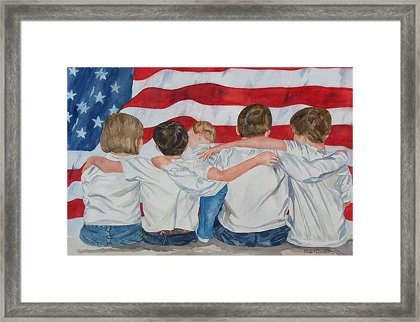 Made In The Usa Framed Print