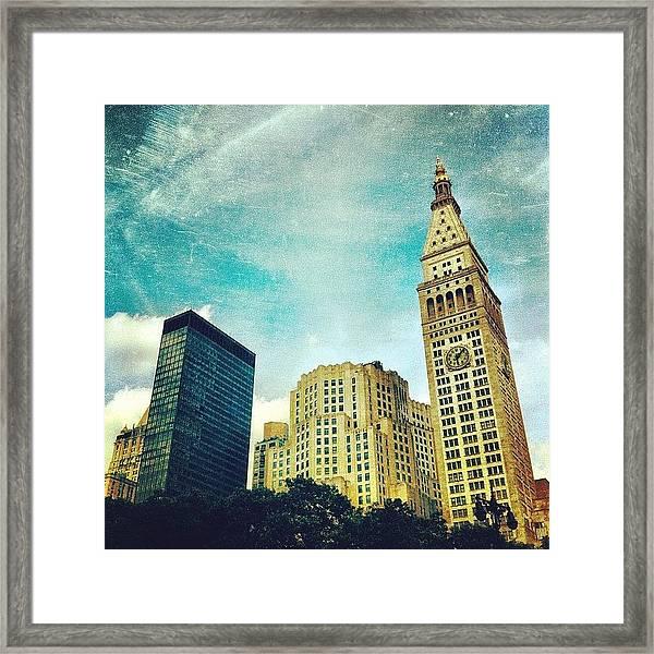 Madison Square Park. #nyc #manhattan Framed Print