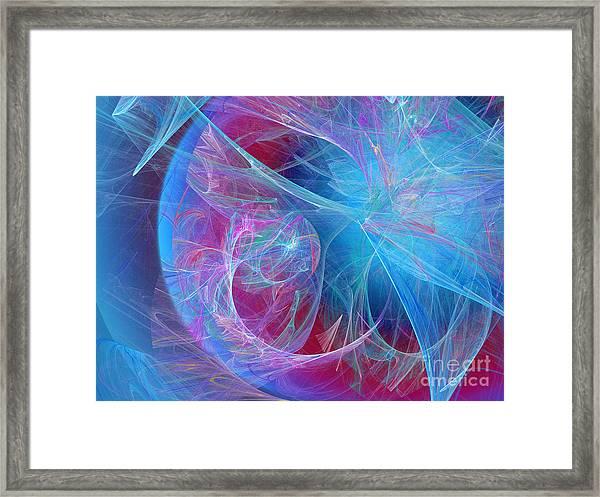 Magenta Blue Framed Print