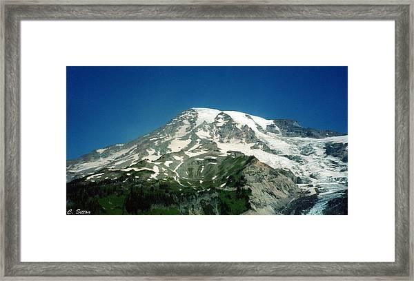 Magestic Rainier Framed Print