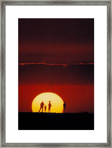 Magic Island Sunset Framed Print