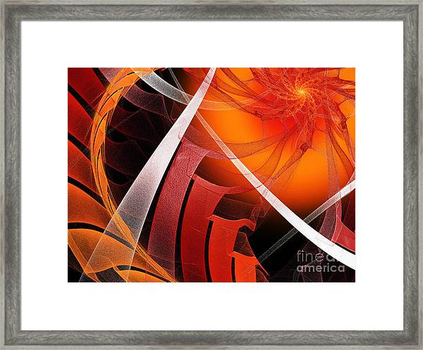 Majestic Motion Black Framed Print