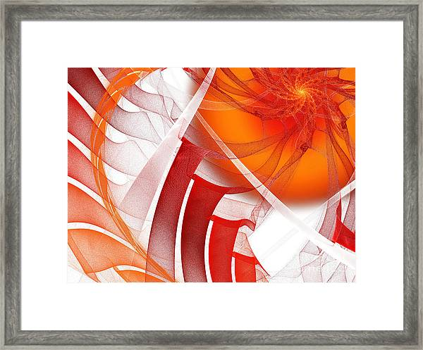 Majestic Motion White Framed Print