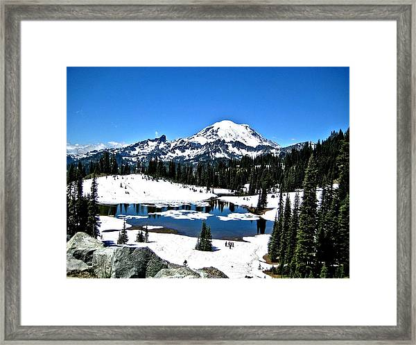 Majestic Rainier Framed Print