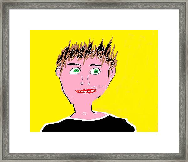 Man Smiling Framed Print