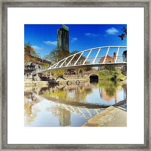 Manchester - April; 2012| #manchester Framed Print