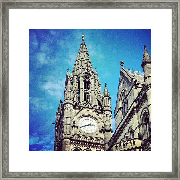 #manchester #buildings #classic Framed Print