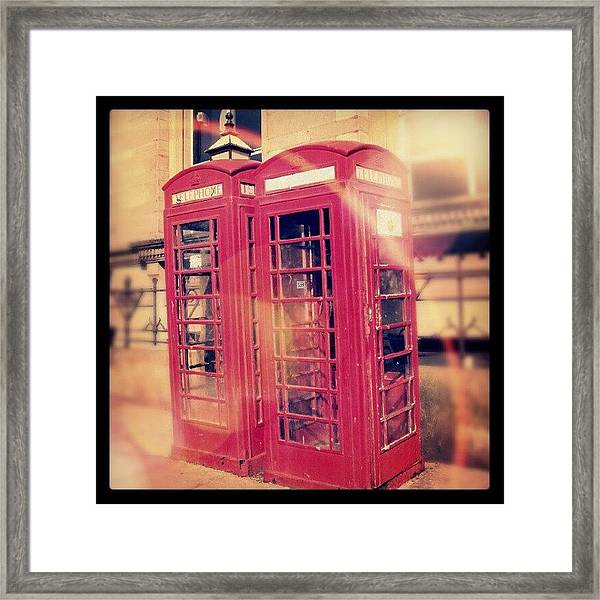 #manchester #london #uk #england Framed Print