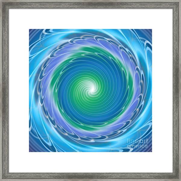 Mandala Spin Framed Print