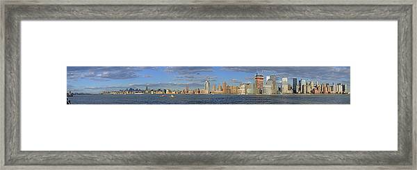 Manhattan - Hudson View Framed Print
